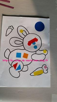 1maman2filles coloriage lapin 1 pâques