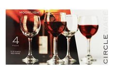 $19.99-$9.95 Perfect for everyday use. This moonlight glass set is elegant and simple. The long stem protects the wine from the heat of your hand while the round wide bowl allows the red wine to properly decant and breathe, enhancing its flavor. 12-1/2-piece glass and 4 glasses to a set.