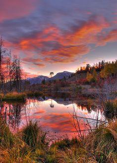 Sunset, Grand Tetons National Park, Wyoming  - USA