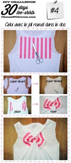 DIY tee-shirt noeud