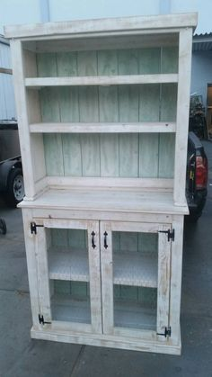 Reclaimed wood hutch. Country style hutch. Rustic by Choochooframe
