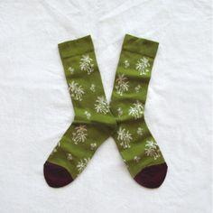 Chaussettes Bonne Maison / Bonne Maison socks - Palmiers Bronze