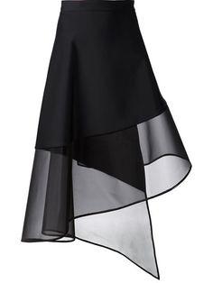 Koma Sheer Hem A-line Wrap Skirt - Bonvicini. David Koma Sheer Hem A-line Wrap Skirt - Bonvicini. David Koma Sheer Hem A-line Wrap Skirt - Bonvicini. Fashion Details, Diy Fashion, Fashion Dresses, Fashion Design, Style Fashion, Fashion Beauty, Luxury Fashion, David Koma, Mode Outfits
