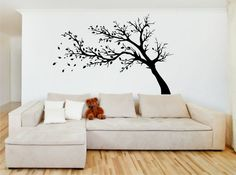 Tree In The Wind Vinyl Wall Sticker by TheVinylArtStudio on Etsy