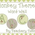 Monkey Themed Word Wall {EDITABLE} - Natalie Lemacks