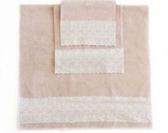 Light Pink Decorative Towel set of 3, Pink bathroom decor, Housewarming gift Pale pink Decorative Towels Pretty Pink decor for Girls Bath by blingscarves. Explore more products on http://blingscarves.etsy.com