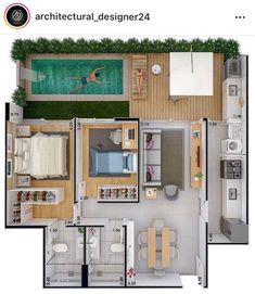 Home Design added a new photo. House Floor Design, Sims 4 House Design, Small House Design, Home Room Design, Home Design Plans, Pool House Plans, Sims House Plans, House Layout Plans, Small House Plans