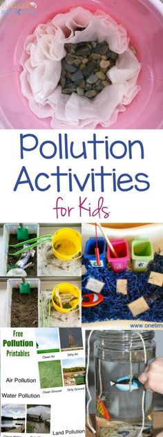 Pollution Activities for Kids - Earth Day Science Activities - Natural Beach . - Pollution Activities for Kids – Earth Day Science Activities – Natural Beach Living polluti - Earth Day Projects, Earth Day Crafts, Projects For Kids, Stem Projects, Nature Crafts, School Projects, Art Projects, Earth Day Activities, Hands On Activities