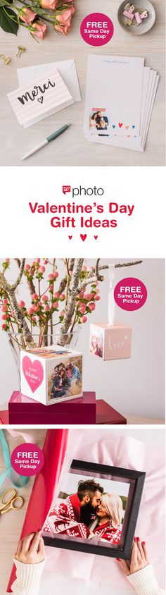 Our newest photo gifts are available for FREE Same Day Pickup! Create Premium Stationery, Photo Cubes and Custom Floating Frames for all of your loves.