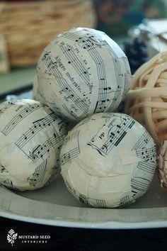 Sheet Music Spheres - Miss Mustard Seed