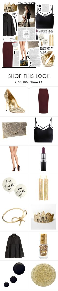 """NYE Dance Party 2016. <3"" by tatjana ❤ liked on Polyvore featuring Sebastian Milano, Reiss, Pretty Polly, MAC Cosmetics, Kate Spade, R.J. Graziano, By Boe, H&M, Barry M and Topshop"