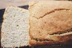 An easy, healthy, and delicious gluten-free vegan bread perfect as is, for sandwiches, toast, etc. It's a family favorite and the BEST gluten-free vegan bread (in my opinion)! #glutenfreebread #veganbread #glutenfreeveganbread | Gluten Free Bread | Vegan Bread | Egg Free Healthy Gluten Free Bread, Dairy Free Bread, Vegan Bread, Gluten Free Baking, Vegan Baking, Vegan Gluten Free, Easy Baking Recipes, Flour Recipes, Gf Recipes