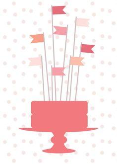 Kaart taart vlaggetjes | BL-ij