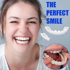 Each person on this planet owns a different set of teeth, that is why we will introduce you to a product that can give that IDEAL SMILE to every person, regardless what kind of teeth they have. Introducing the PERFECT SMILE SNAP ON BRACES. Smile Teeth, Teeth Care, Skin Care, Braces Off, Teeth Braces, Braces Smile, Perfect Teeth, Perfect Smile, Beauty Skin