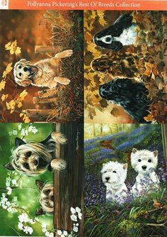 Pollyanna Pickering Best of Breed - selection of delightful dog themed traditional decoupage