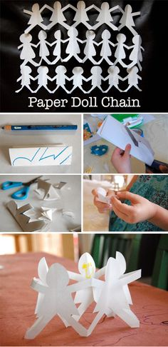 adorable paper doll chain