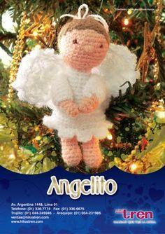 De mis manos: Patrón de angelito de Navidad!!