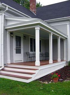 Find and save ideas about Front porch design ideas. See more ideas about Front porch remodel, Front porches and Front porch addition. Front Porch Steps, Farmhouse Front Porches, Front Porch Design, Side Porch, Porch Designs, Porch Pillars, Deck Design, Front Porch Posts, Front Porch Addition