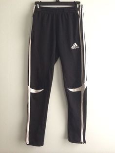 adidas Soccer Clothing for Men Training Pants, Soccer Training, Adidas Joggers, Sweatpants, White Boys, Black And White, Balenciaga, Marc Jacobs, Chloe
