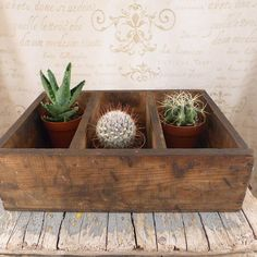 Wooden box with dividers, vintage, kitchen, shabby chic,container, Vintage Boxes, drawer printing