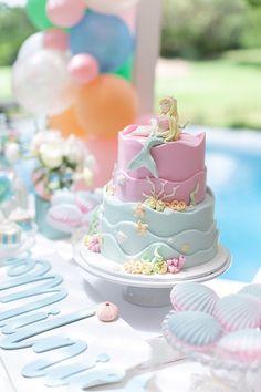 Pastel Mermaid Birthday Party Mermaid Cake from a Pastel Mermaid Birthday Party on Kara's Party Idea Mermaid Party Decorations, Mermaid Parties, Birthday Party Decorations, Birthday Parties, Birthday Bash, Mermaid Birthday Cakes, Mermaid Cakes, Girl Birthday, Mermaid Cake Pops
