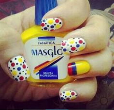 Uñas #colombia Love Nails, Fun Nails, Pretty Nails, Toe Nail Designs, Simple Nail Designs, Nailart, Nail Time, Girls Nails, Yellow Nails