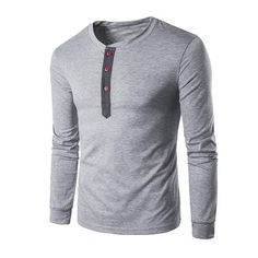 Gnao Mens Ribbed Casual Knit Plain Round Neck Slim Fit 3//4 Sleeve Pullover Sweatshirt