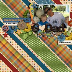 Layout using {About Dad} Digital Scrapbook Collection by Clever Monkey Graphics available at Gingerscraps http://store.gingerscraps.net/about-dad-by-Clever-Monkey-Graphics.html #clevermonkeygraphics