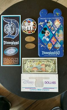 """BUY IT NOW"".... NEW LOW PRICE ... NEW DISNEYLAND 50th Ann. DISNEY DOLLAR PLUS 60th ANNIVERSARY ""RARE"" PRESSED QUARTER ..... THESE ARE ""NO LONGER AVAILABLE AT DISNEYLAND""..... (PLEASE CLICK-ON THE PICTURE TWICE TO SEE ALL DETAILS AND MUCH MORE PICTURES) -- (MULTIPLE ITEMS INCLUDED HERE GREAT BARGAINS) .... #PressedCoins #Disneyland #Disneyland60th #WaltDisneyWorld #DisneyDollars #Disneyland60 #DisneylandPressedPennyMachine"