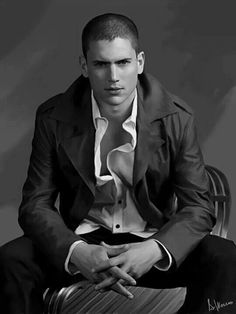 Wentworth Miller, with that look in his eyes I'm intrigued