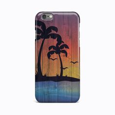 Wooden Palms Vintage Hard Case Cover For Apple iPhone 4 4S 5 5S 5c SE 6 6S 7Plus #Apple