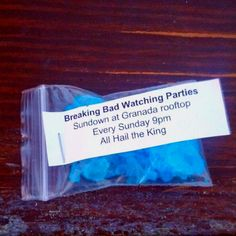Best idea ever! Breaking bad watching party invite