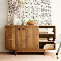 Emmerson Reclaimed Wood Buffet #westelm Simple design.  Seems to me would be a great media cabinet or just extra storage in the living room.