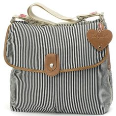 This is the perfect sized bag for all your essentials, the Babymel Satchel Stripe Navy is a shoulder bag which is on only stylish, but also very fashionable. The Satchel combines all the features you would expect from a baby changing bag. Cute Diaper Bags, Best Diaper Bag, Nappy Bags, Baby Changing Bags, Changing Mat, Mamas And Papas, Baby Time, Baby Accessories, Baby Gear