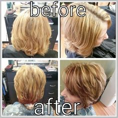 Highlights and lowlights, keratin treatment & haircut. Done by myself, Rebecca Gonzalez @ Simply Chic Beauty Salon in Lowell. MA