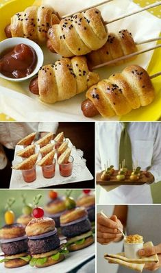 Gold and White Wedding. Buffet Dinner, Late Night Snack, Appetizer. Wow! Love these Summer parties ideas for fashionable food!