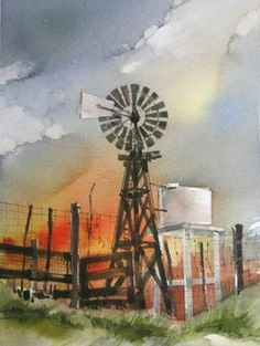 Hunter's paintings have been in the Annual International Watercolor Exhibition in Houston, Texas and the Texas Art Society International Show, San Antonio. Civic Theatre, Lubbock Texas, Cool Artwork, Amazing Artwork, West Texas, Yahoo Images, Windmill, Wind Turbine, Image Search