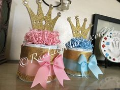 Princess or Prince diaper cake/Prince Baby shower