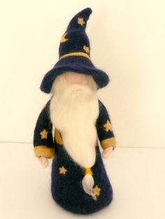 Merlin the Wizard Magician Waldorf Handmade Needle by LaLutine