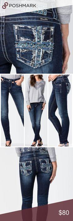 "NWT Miss Me Cross Lines skinny jeans! NWT Miss Me Cross Lines Skinny jeans! Stretch jeans, mid rise. 30"" inseam. Miss Me Jeans Skinny"