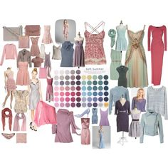 cool summer color palette   fashion look from May 2013 featuring Donna Karan gowns, J.Crew ...