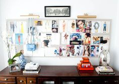 "workspace ""pinboard"" #storage #organising #clutter #office"