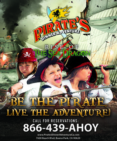 Buena Park, California.  Pirate's Dinner Adventure is fun for the whole family! #PiratesBP #PiratesDinnerAdventure #BuenaPark  #Pirates