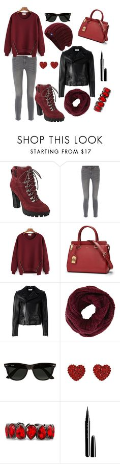 """""""Untitled #17"""" by blancaaropa ❤ liked on Polyvore featuring Nine West, MiH Jeans, Lauren Ralph Lauren, Yves Saint Laurent, BCBGMAXAZRIA, Ray-Ban, Tarina Tarantino, Marc Jacobs and Keds"""