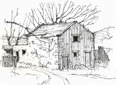Yorkshire Dales barn ~ sketch