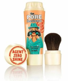 The Pore Fessional Agent Zero Shine Powder.  Absorbs every drop of oil and leaves a silky matte finish.  LOVE IT!