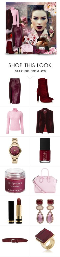 """Velvet"" by angelflair ❤ liked on Polyvore featuring Brandon Maxwell, Alaïa, Altuzarra, Karl Lagerfeld, NARS Cosmetics, Sara Happ, Givenchy, Trilogy, OtterBox and Gucci"