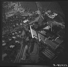 1938 Air view of sugar refinery. Near Ponce, Puerto Rico.