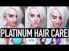 My Platinum Hair Care Routine- How To Maintain Bleach Blonde Hair   Tessa Netting - YouTube