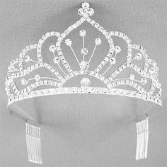 TIARA - RHINESTONE TIARA - BRIDAL TIARA - WEDDING JEWELRY-  BIRTHDAY TIARA #Tiara